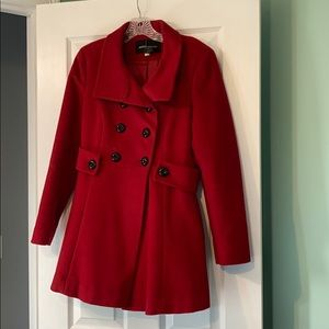 Victoria Secret Red Flair Coat